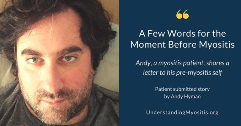 A Few Words for the Moment before myositis image