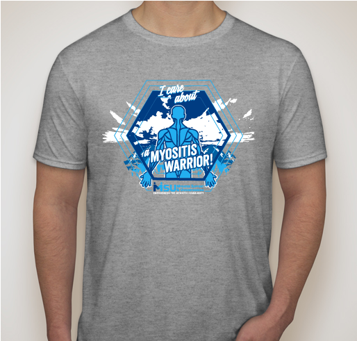 I Care About A myositis warrior t-shirts