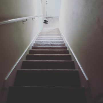These are the stairs from the condo that my family and I stayed at last week for vacation at the beach.