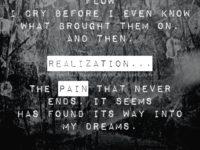 Pain never sleeps by Linda Rabinowitz