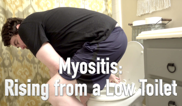 Getting up from a Toilet with Myositis