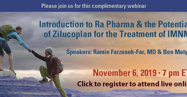 Watch Intro to Ra Pharma & the Potential of Zilucoplan for the Treatment of IMNM