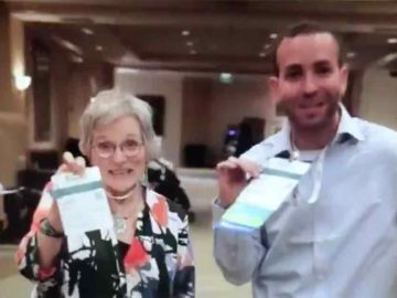 Lynn Wilson and Seth Rothberg at Global Genes Rare Patient Advocacy Summit 2019