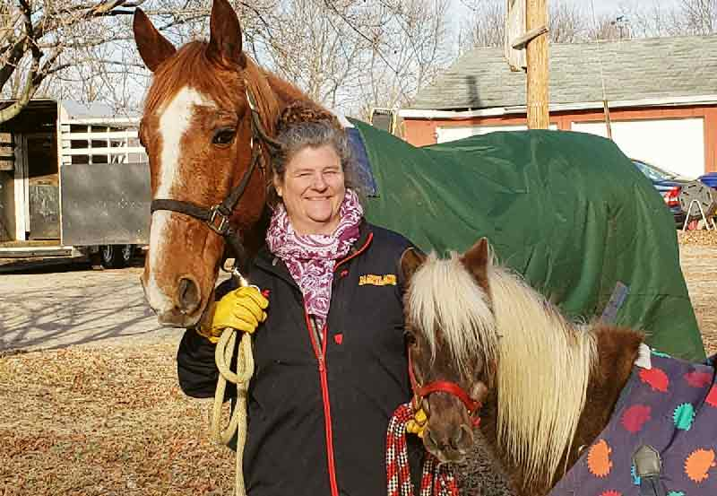 Colleen and her horses who helped keep her going