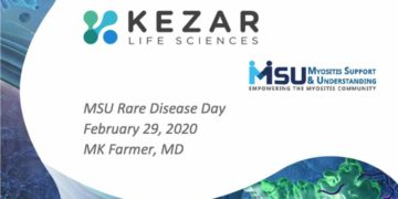 Dr. Mary Katherine (MK) Farmer, MD, Rheumatologist and Senior Medical Director at Kezar Life Sciences, joined us live online on Rare Disease Day 2020 and introduced Kezar, KZR-616, and the PRESIDIO Clinical Study.