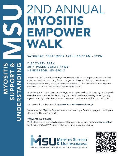 2nd Annual Myositis Empower Walk