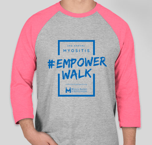 2nd Annual Myositis Empower Walk, In Person and Virtual, September 19, 2020, pink shirt