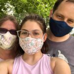 photo of Author Emily Filmore and her family during the COVID-19 pandemic