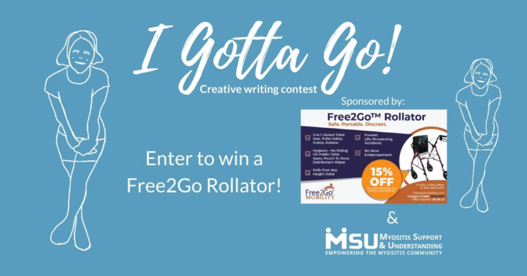 """Enter the """"I Gotta Go!"""" creative writing contest for a chance to win a Free2Go Rollator"""
