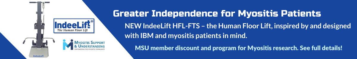 MSU, IndeeLift program, greater independence for myositis patients